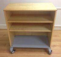 IKEA Effektiv wooden storage cabinet on wheels with 2 ...