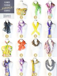 15 Ways To Wear Summer Scarves | Scarf Tying 101 ...