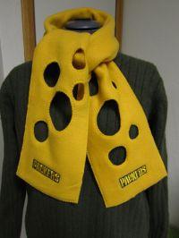 Green Bay Packers Fleece Cheese Head Scarf   Head scarfs ...