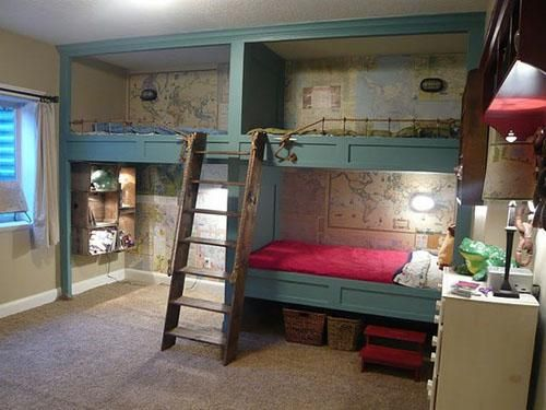 40 Cool Boys Room Ideas | Boys, Built Ins And Triple Bunk Beds