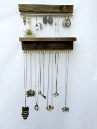 Wall Mount Jewelry Organizer, Necklace Holder and Earring ...