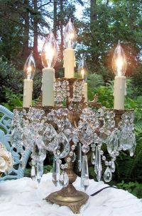 Vintage Elegance Crystal Candelabra Table Lamp reserved ...