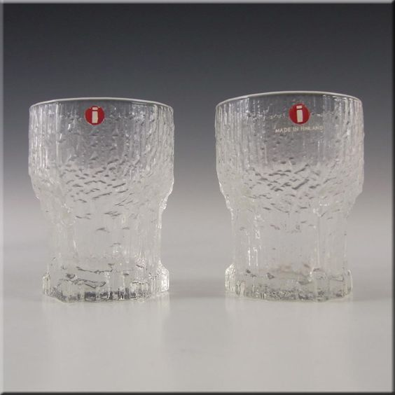 Aalto Vase Iittala Finnish Glass Aslak Shot Glasses By Tapio Wirkkala