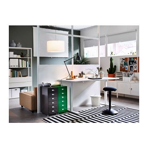 Ikea Stockholm Rug Flatwoven Black Handmade Striped Off White Bureau Ikea, Drawer Unit And Offices On Pinterest