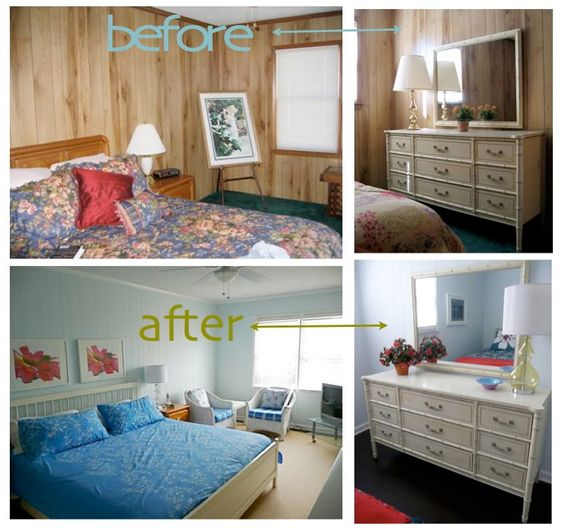 Painting Over Wood Paneling Before And After | Painted Wood