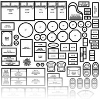 printable furniture templates 1/4 inch scale | Build ...