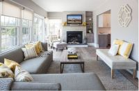 narrow living room with fireplace at end - Bing Images ...