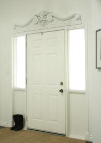 Front Door Pediment - the design above a door, window, or ...