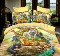 Colorful printing zoo animal bedding set 4pc for girls 100 ...