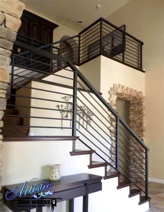 Modern Wrought Iron Stair Railings