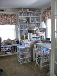 lori's shabby chic craft room / scrap room - so organized ...