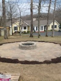 Fire Pit/Patio...patio is portage stone from Lowe's. If ...