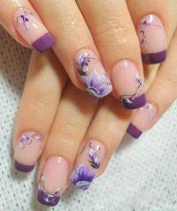 beautiful purple flowers nail designs 2014 | Nail Art ...