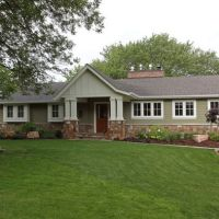 Traditional Home 1950s ranch exterior remodeling Design ...