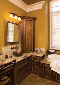 Master bath, Tray ceilings and Bathroom sink cabinets on ...