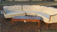 vintage french provincial sectional sofa - Google Search ...