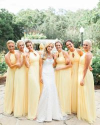 Yellow bridesmaids, Pastel and Blue wedding colors on ...