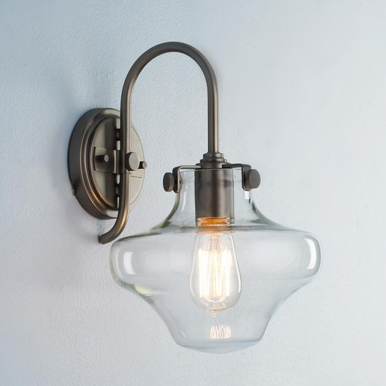 Sconces, Wall sconces and Globes on Pinterest