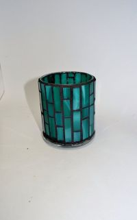 Teal Mosaic Candle holder | Teal, Candle holders and Mosaics