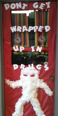 Red Ribbon Week classroom door decorations. | School Door ...