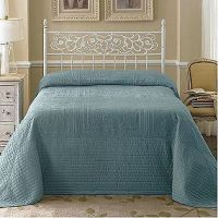 -Country Living Tile Bedspread - Blue   Beach House ...
