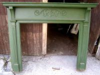 ~ antique carved oak fireplace mantel ~ architectural ...