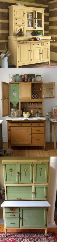Hoosier cabinets, 1898-1940, were compact, free-standing ...