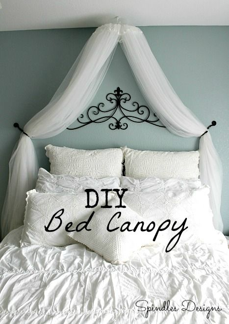Diy Bed Canopy Using An Embroidery Hoop And Sheer