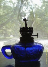 cobalt blue kerosene lamp | Oil Lamps | Pinterest | Cobalt ...