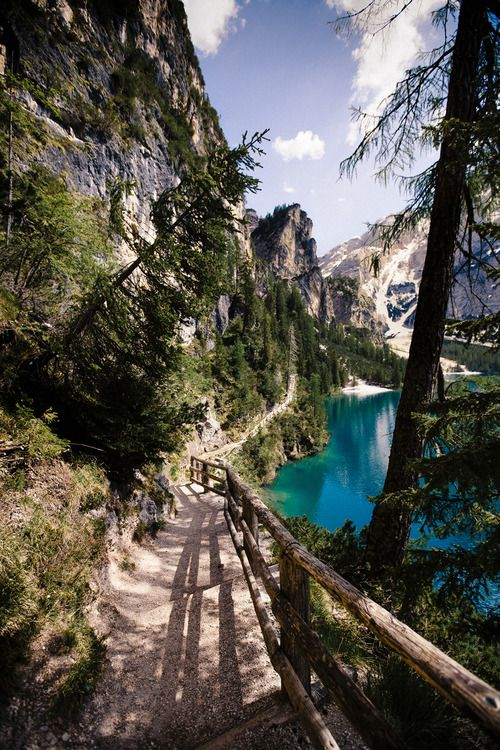 A walk around the mesmerising Lake Braies, Italy.: