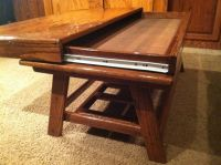 Rustic Oak Coffee Table with hidden compartment par ...