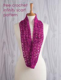 free crochet infinity scarf pattern | Crochet Scarves ...