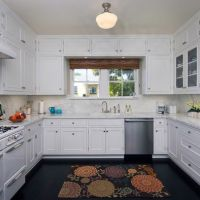 U Shaped + Kitchen Design, cabinets over window | Liveable ...