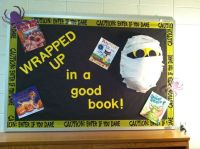 Halloween bulletin board! Love my mummy!!!! | Library ...
