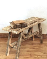 Scandinavian bench  Reclaimed wood bench  Rustic barn ...
