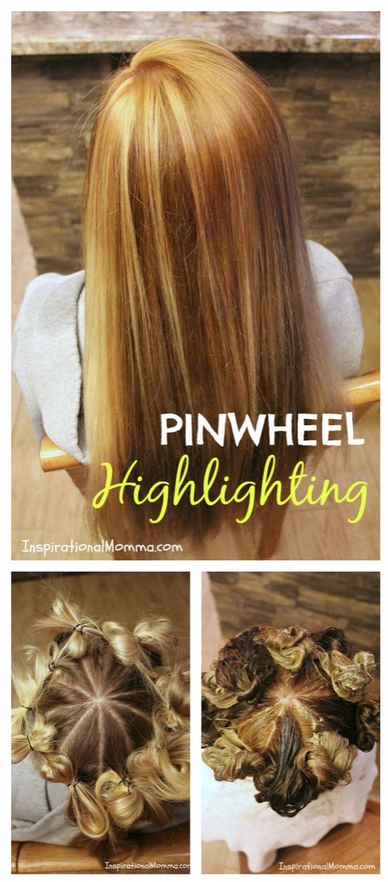 Pinwheel Highlighting - This simple technique guarantees you a natural highlighted look everytime. No experience needed to create a gorgeous salon look!: