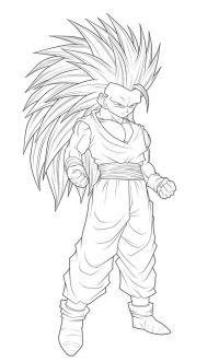 Dragon Ball Z Drawings | Goku super sayan 4 da colorare ...