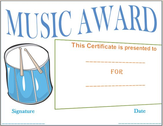Drumbeat Award Certificate Template Endroits à visiter - award certificate template