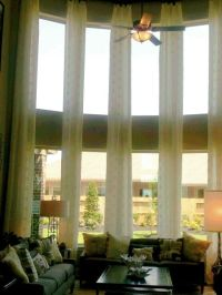 Tall curtains, for tall windows.