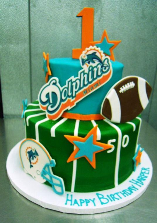 miami dolphins party cake