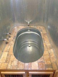 Horse trough bathtub.. corrugated metal walls  | Pinteres