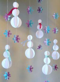 Snowman Decorations / 3D Snowman Garland /Frozen Birthday ...