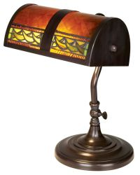 Bronze and Mica Accent Piano Lamp by Dale Tiffany ...