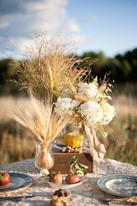 Country chic fall wedding and wedding inspiration on