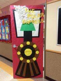 The polar express, Christmas door and Doors on Pinterest