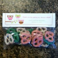 Owl baby girl shower favors! I used the colors of the ...