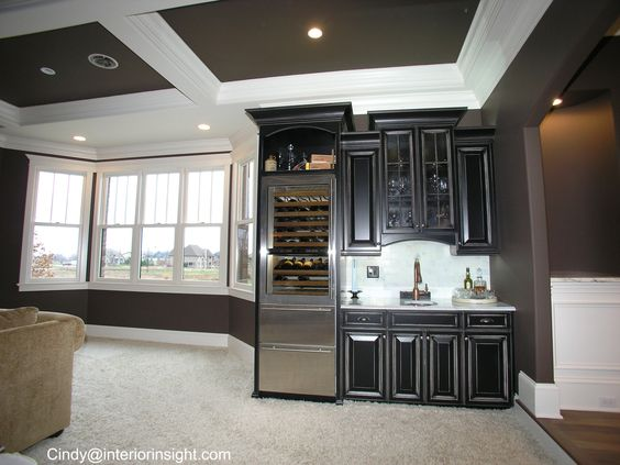 Black Cabinets Wet Bars And Wine And Beer Fridge On Pinterest