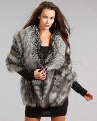 Silver Fox Fur Wrap/Shawl | Fur Shawls & Stoles ...