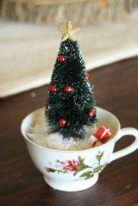 cute idea...Tea Cup Christmas Trees | Merry Christmas ...