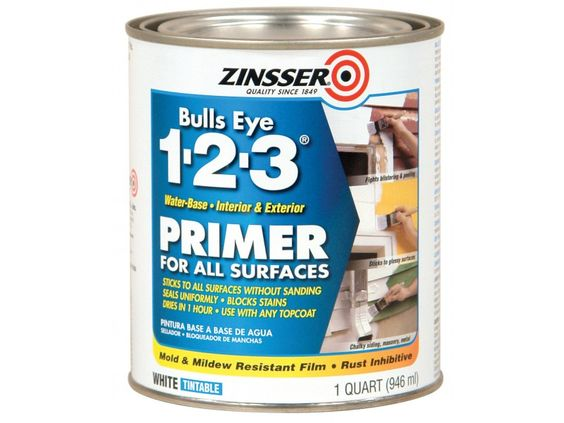 Painting | Bonding Primer :: Zinsser Bulls Eye 1-2-3 Primer